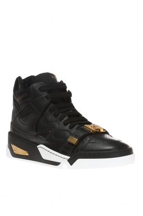 High ankle sport shoes with a medusa head od Versace