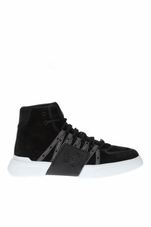 High-top sneakers with logo od Versace