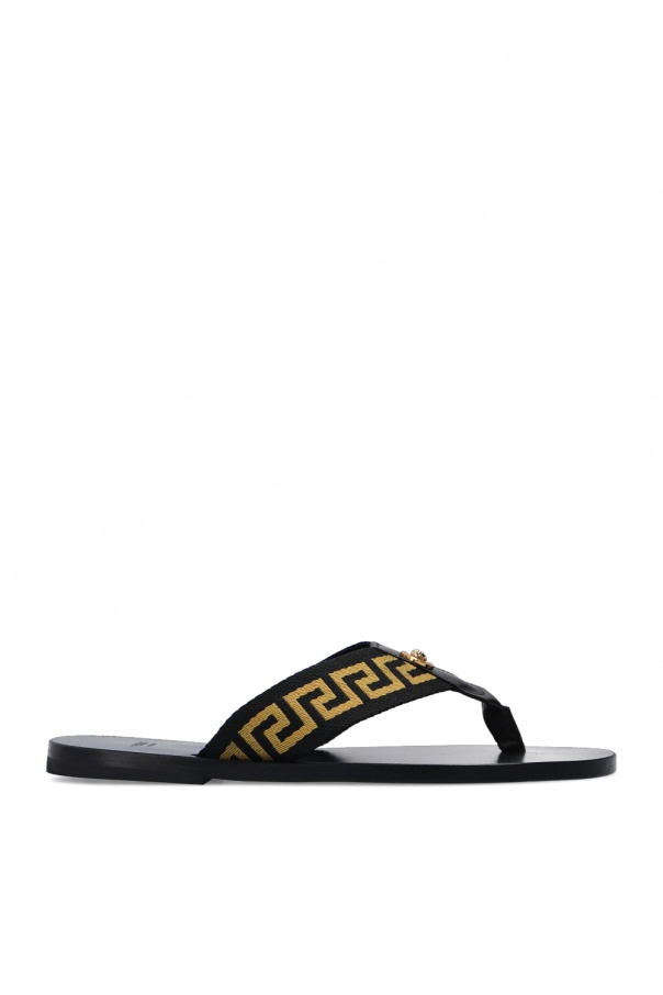 Versace Leather flip-flops