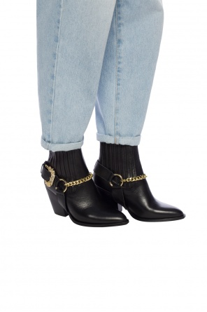 Appliqued ankle boots od Versace Jeans Couture
