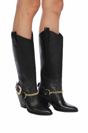 Heeled boots with chain od Versace Jeans Couture