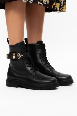 Leather ankle boots od Versace Jeans Couture