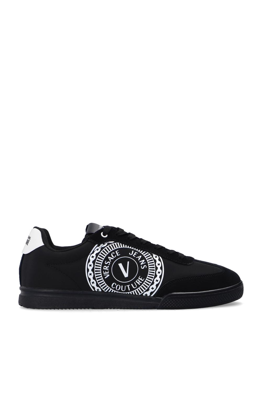 Versace Jeans Couture Skater Logo Sole Sneaker Black 43 M US Mens 10