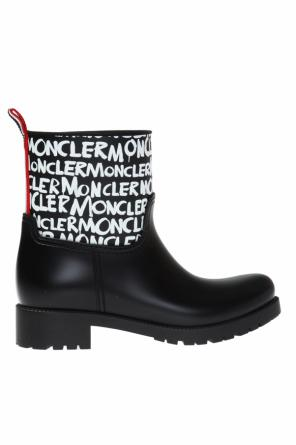'ginette' wellingtons with a logo od Moncler