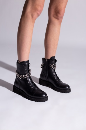 Combat boots with chain od Giuseppe Zanotti