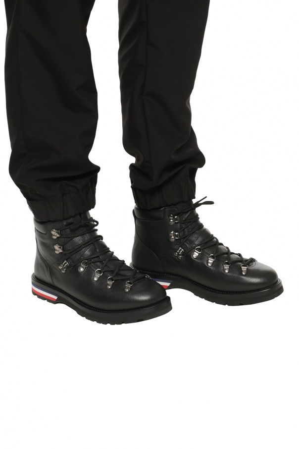'peak' leather boots od Moncler