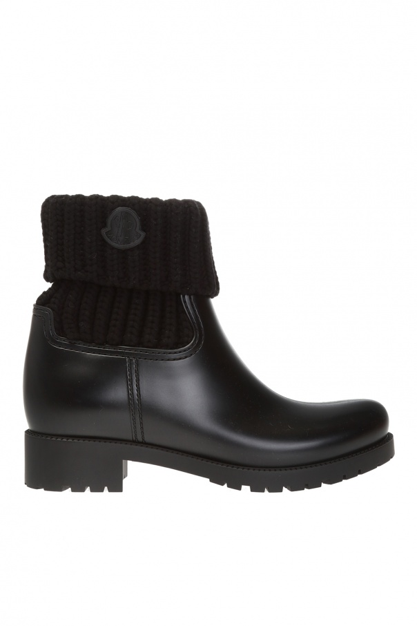 Moncler 'Ginette' heeled ankle boots with logo