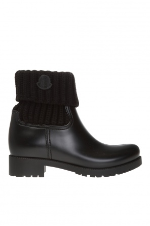 'ginette' heeled ankle boots with logo od Moncler