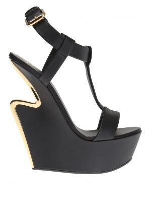 Leather wedge sandals od Giuseppe Zanotti