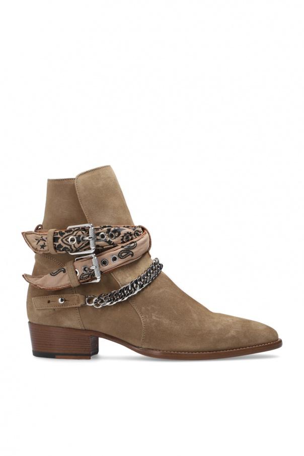 Amiri Heeled suede boots