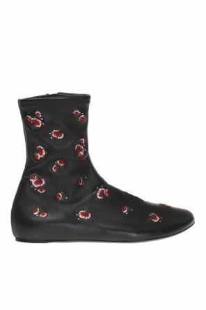 Floral motif ankle boots od Kenzo