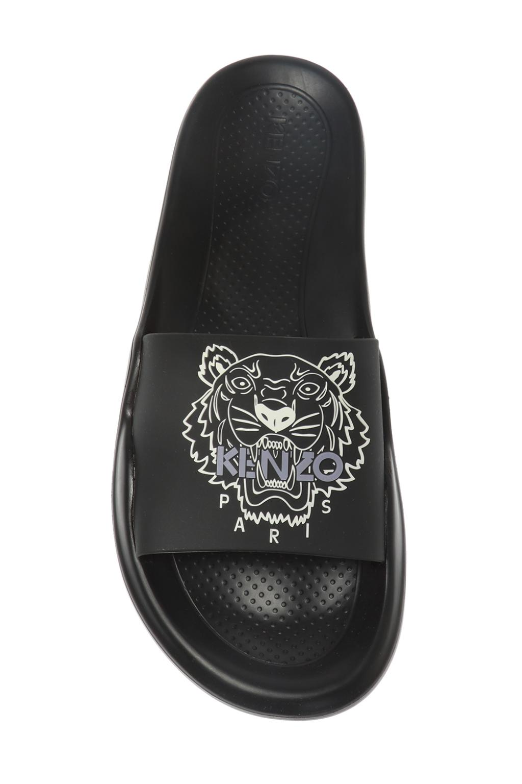 Kenzo 'Tiger' slides with logo