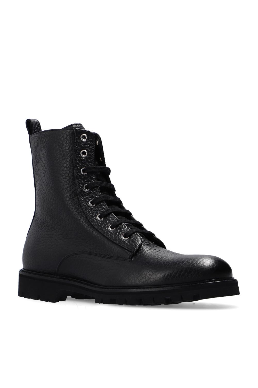 Philipp Plein Leather ankle boots