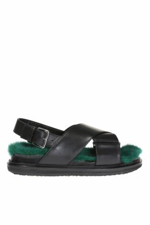 Sandals with mink fur od Marni