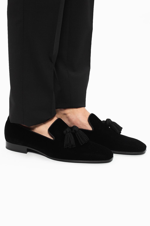 Jimmy Choo 'Foxley' velvet moccasins