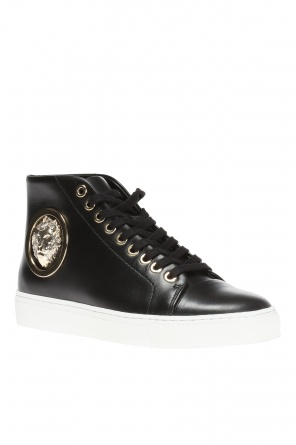Appliquéd high-top sneakers od Versace Versus