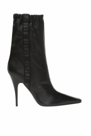 Stiletto boots with logo od Versace Versus