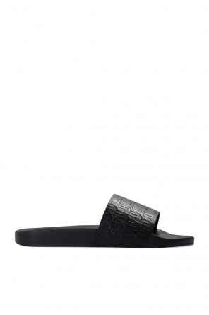 Leather slides with logo od Dsquared2