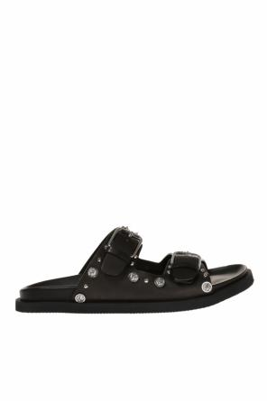 Leather slides od Versace Versus