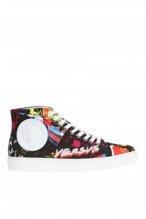 Patterned high-top sneakers od Versace Versus