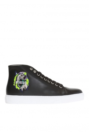 Patched high-top sneakers od Versace Versus