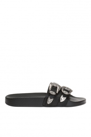 'gothika' slides with logo od Dsquared2