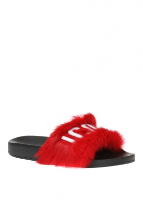 Slippers finished with fur od Dsquared2
