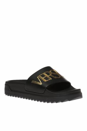 Leather slides on platform od Versace Versus