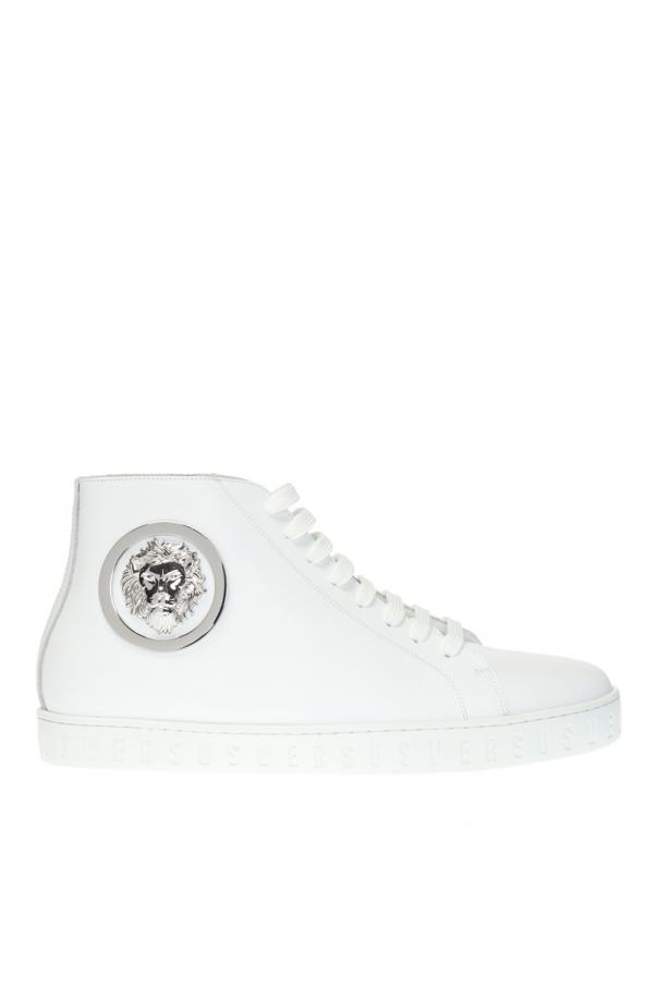 High-top sneakers with logo Versace Versus - Vitkac shop online 8eda08e985503