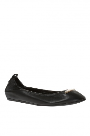 Ballet flats with metal logo od Lanvin