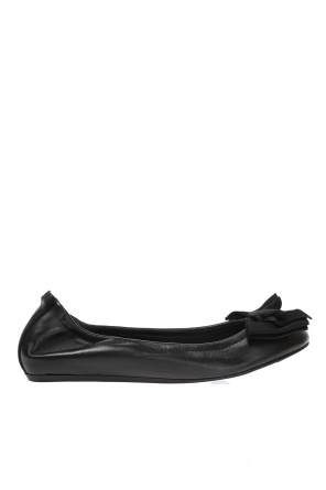 Bow leather ballet flats od Lanvin