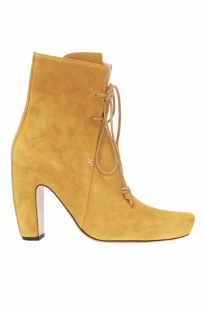 Heeled suede ankle boots od Lanvin