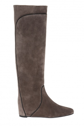 Suede wedge boots od Lanvin