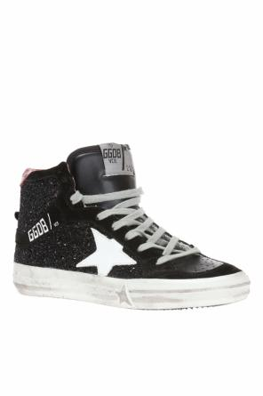 Sequinned high-top sneakers od Golden Goose