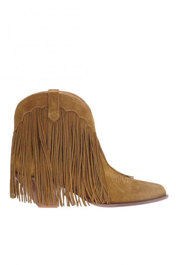 401e6cec36d Fringed heeled ankle boots Golden Goose - Vitkac shop online