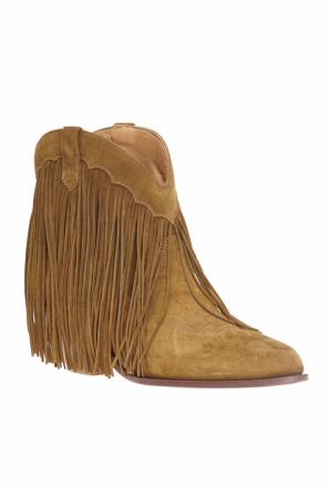 Fringed heeled ankle boots od Golden Goose