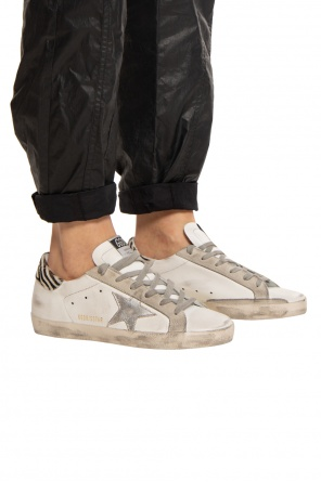 'superstar' distressed sneakers od Golden Goose