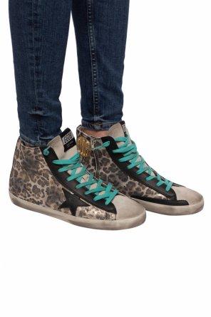 'francy' distressed sneakers od Golden Goose