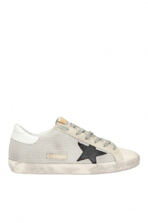 'superstar' shoes with worn effect od Golden Goose