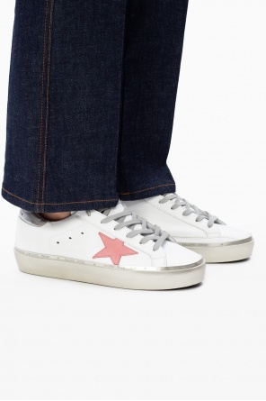 'superstar' sneakers with time-worn effects od Golden Goose