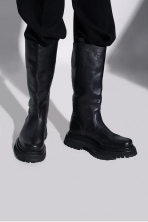 Leather knee-high boots od Ami Alexandre Mattiussi