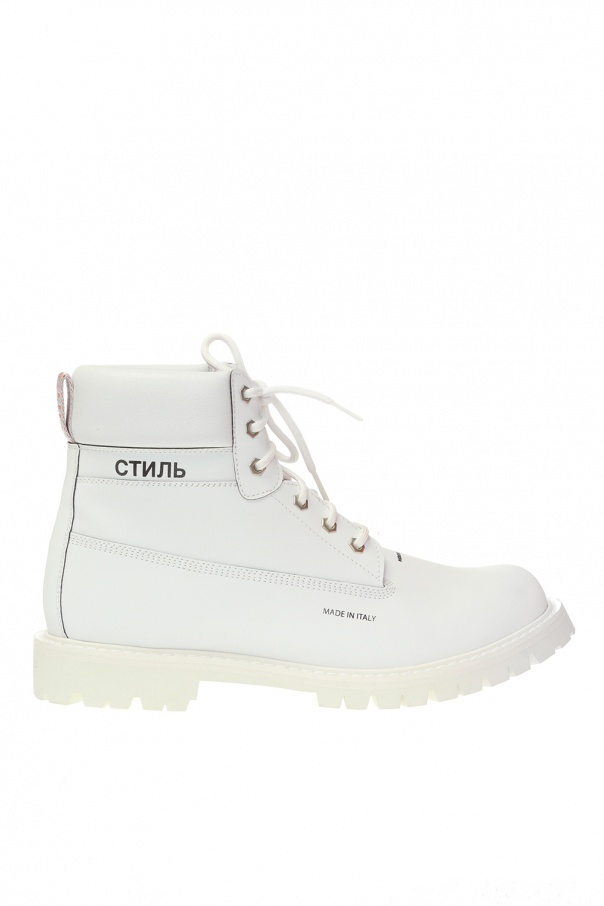 Heron Preston Branded leather boots
