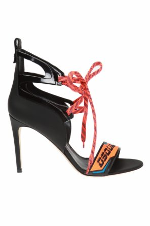 Heeled sandals with logo od Dsquared2