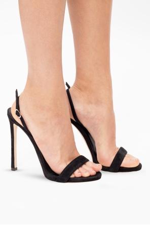 Stiletto heeled suede sandals od Giuseppe Zanotti