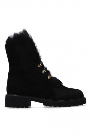 'combat' suede ankle boots od Giuseppe Zanotti