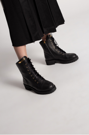 Leather combat boots od Giuseppe Zanotti
