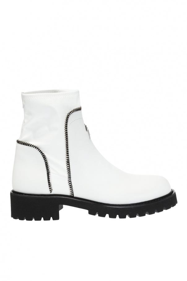 56ef614e174823 Combat  heeled ankle boots with sock Giuseppe Zanotti - Vitkac shop ...
