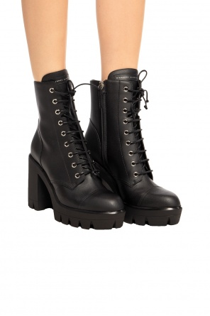 Leather heeled ankle boots od Giuseppe Zanotti