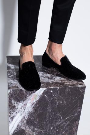 'kevin' velvet loafers od Giuseppe Zanotti