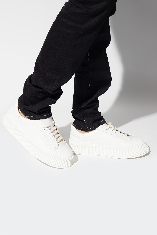 JIL SANDER Skórzane buty sportowe